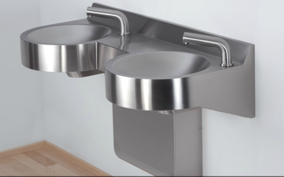 Neo-Metro 8980-2 Curved Front Stainless Steel Wash Basin