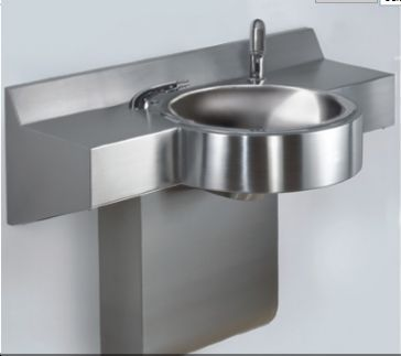 Neo-Metro 8980-1 Curved Front Stainless Steel Wash Basin
