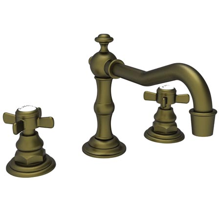 Newport Brass 1000/06 Fairfield Widespread Lavatory Faucet - Antique Brass