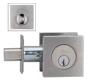 Omnia 9000SAC Stainless Steel Double Cylinder Deadbolt