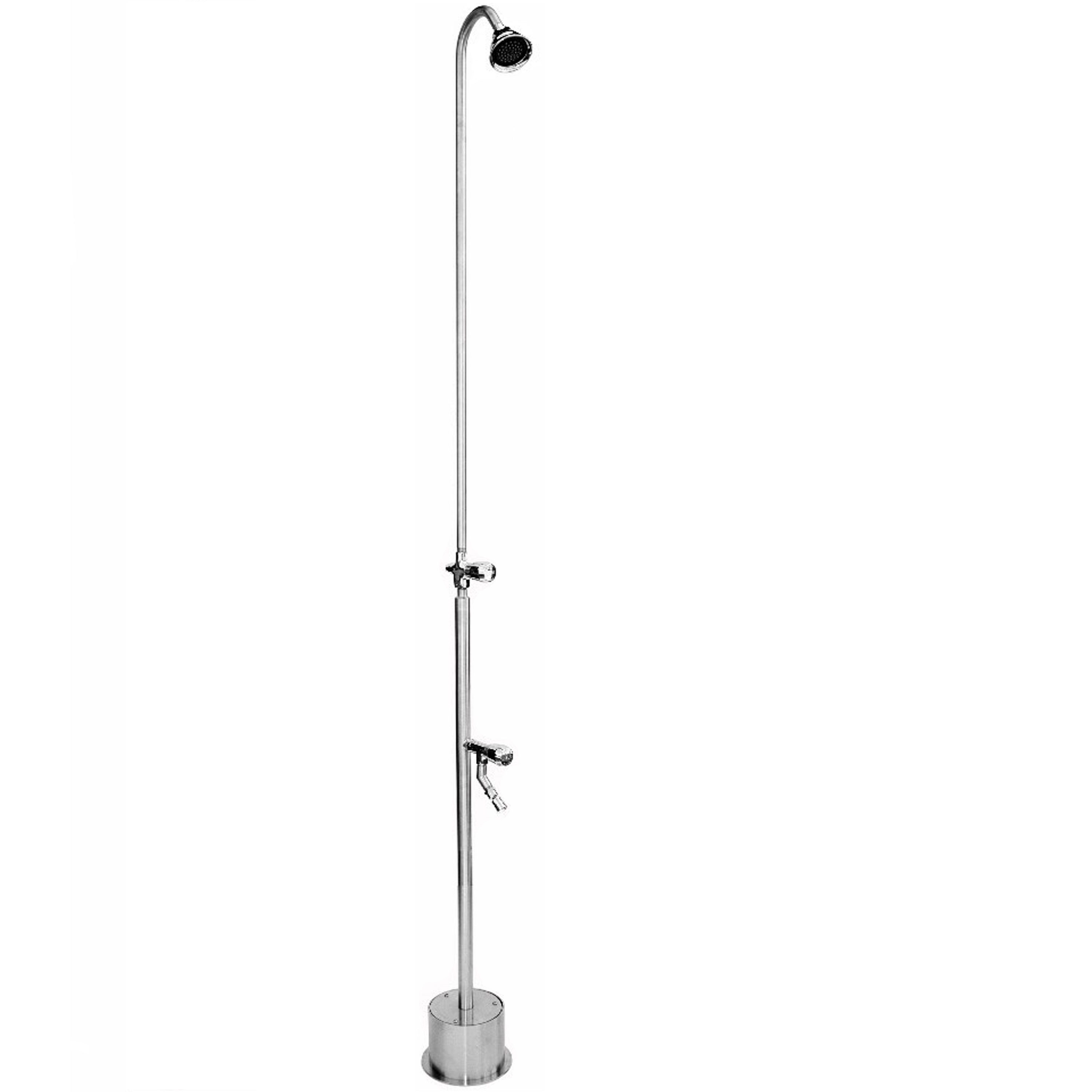 Outdoor Shower Company BS-1200-ADA Free Standing Single Supply Shower