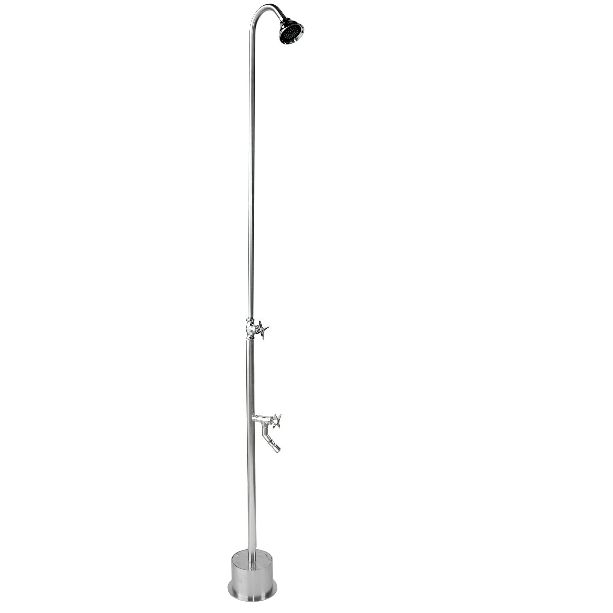 Outdoor Shower Company BS-1200-CHV Free Standing Single Supply Shower