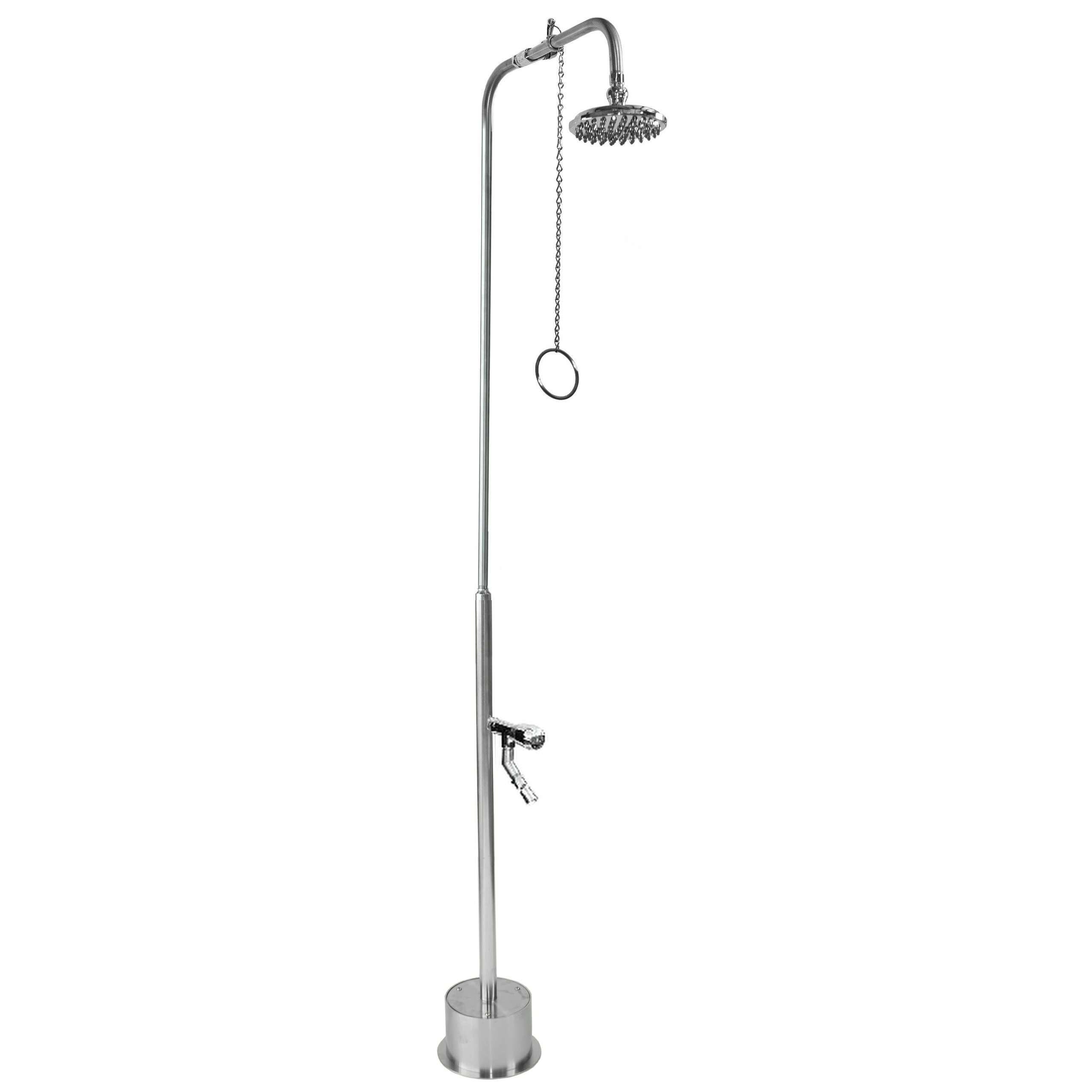 Outdoor Shower Company BS-1200-PCV-ADA Free Standing Single Supply Shower