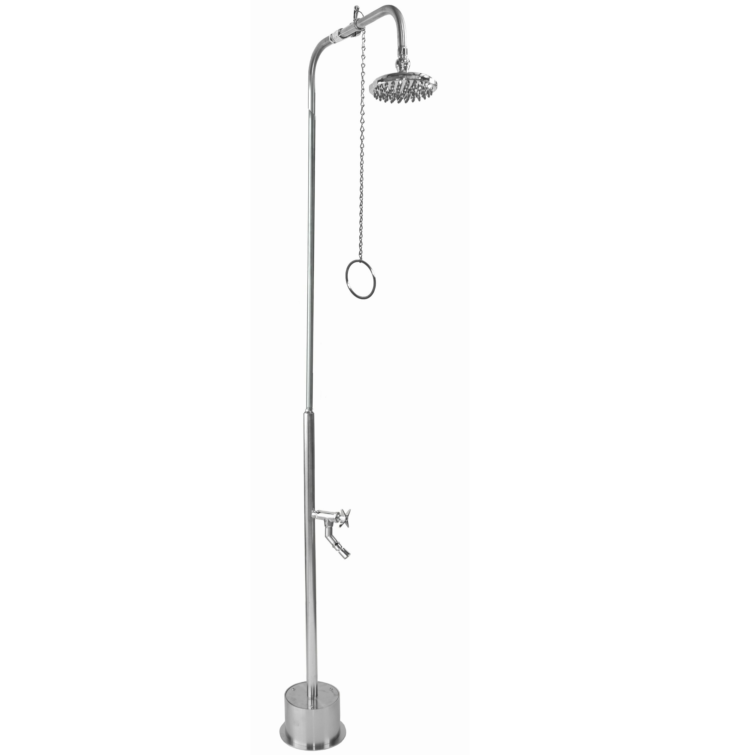 Outdoor Shower Company BS-1200-PCV-CHV Free Standing Single Supply Shower