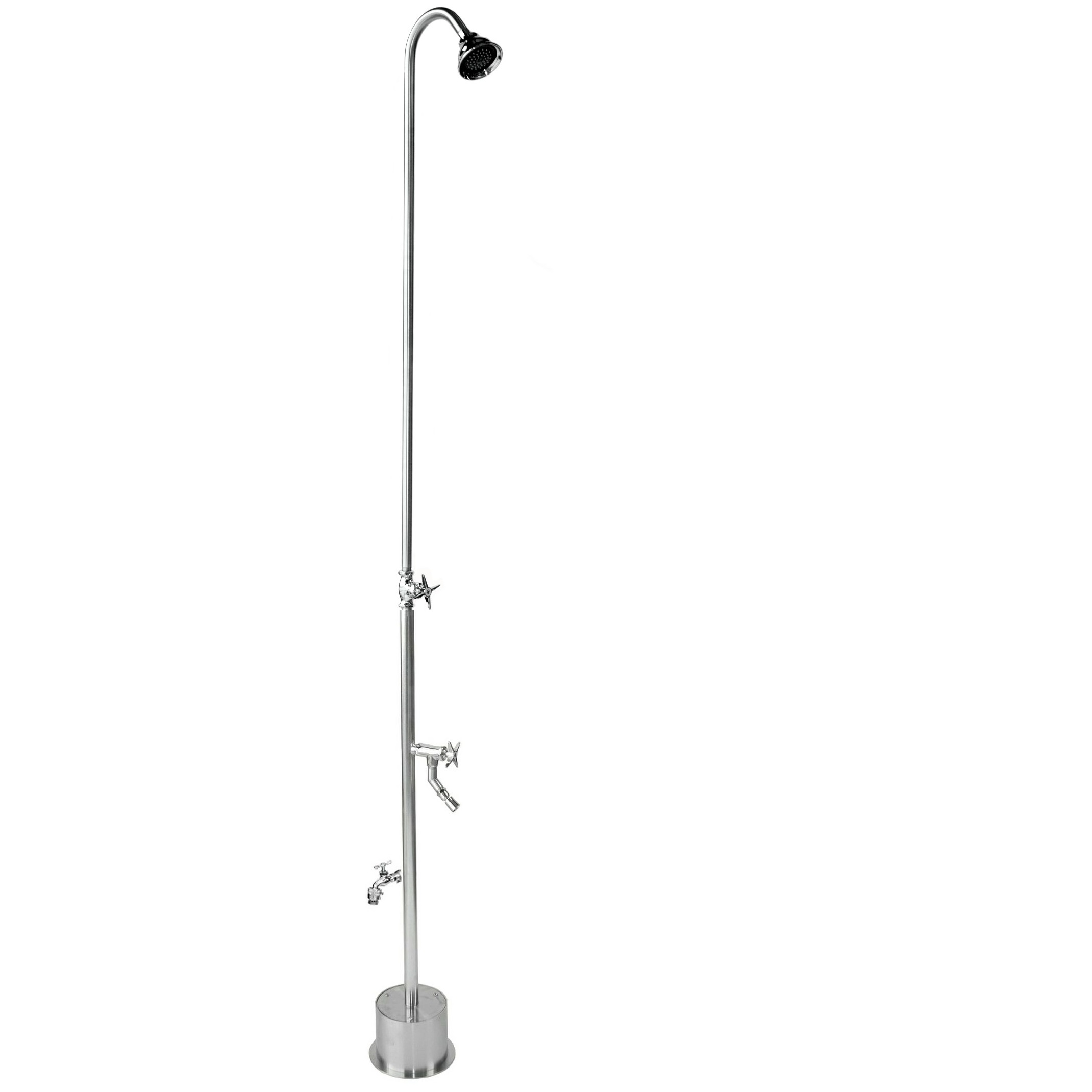 Outdoor Shower Company BS-2000-CHV Free Standing Single Supply Shower