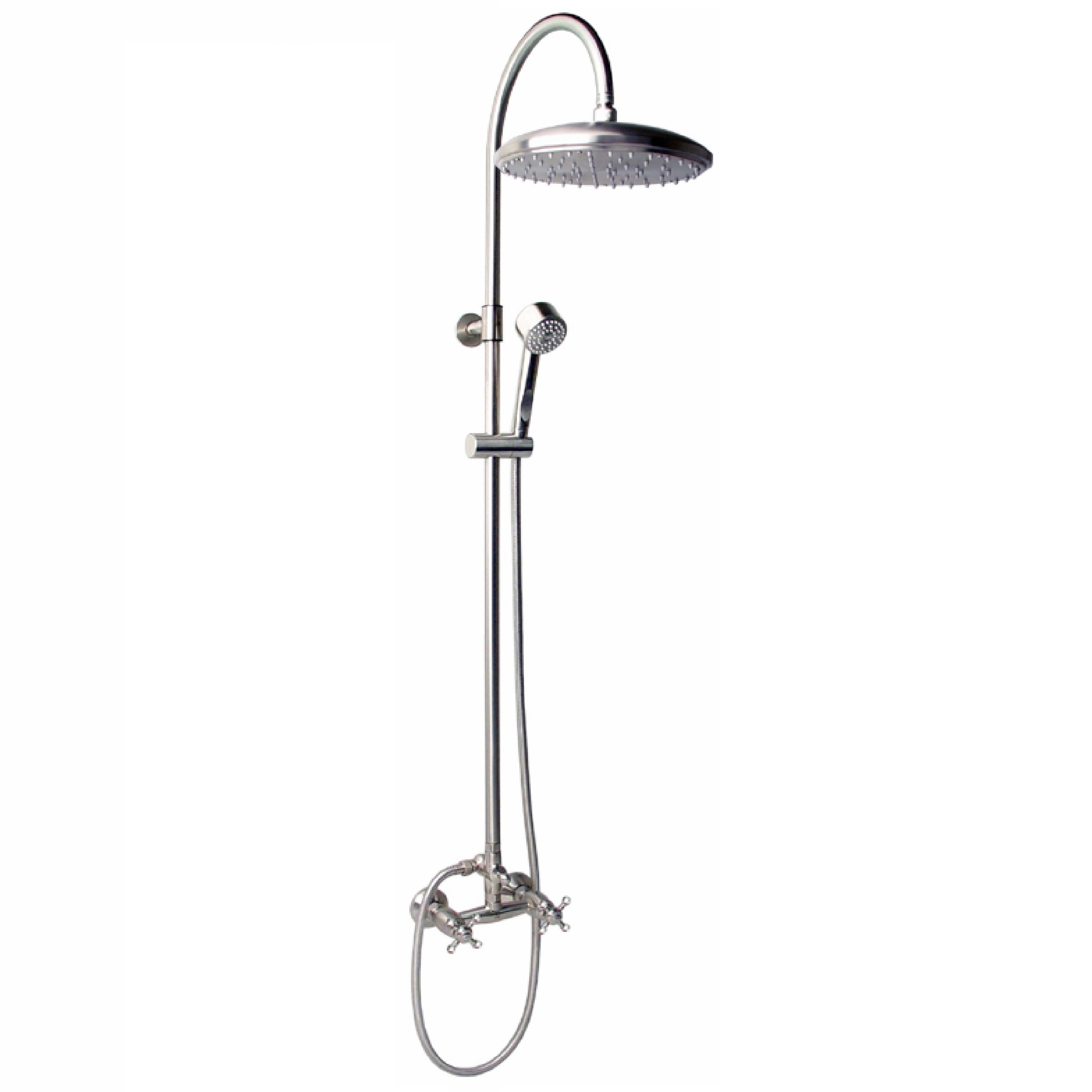 Outdoor Shower Company CAP-113DDS-12 Wall Mount Hot & Cold Shower