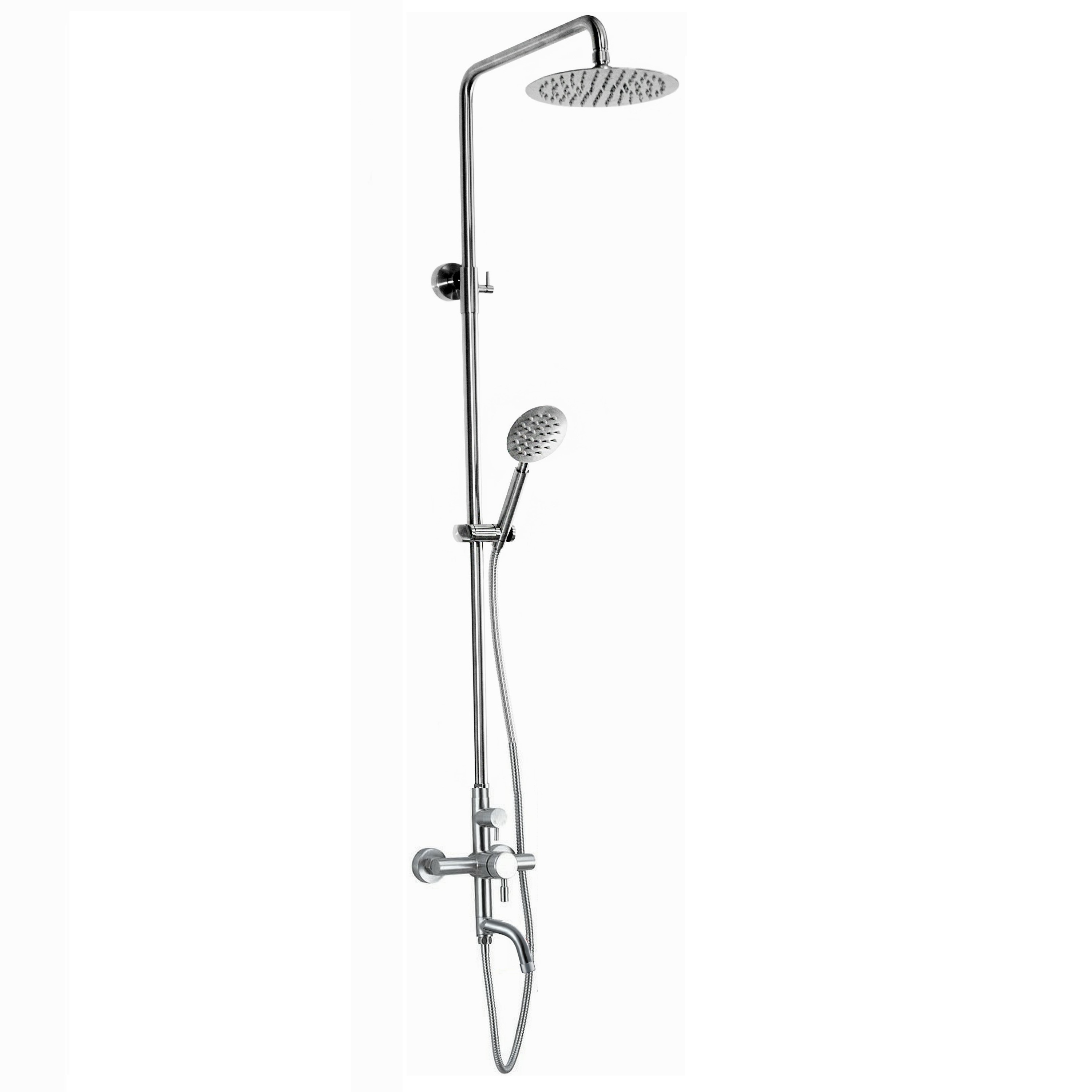 Outdoor Shower Company DVA-L1-WMHC-FS Wall Mount Hot & Cold Shower