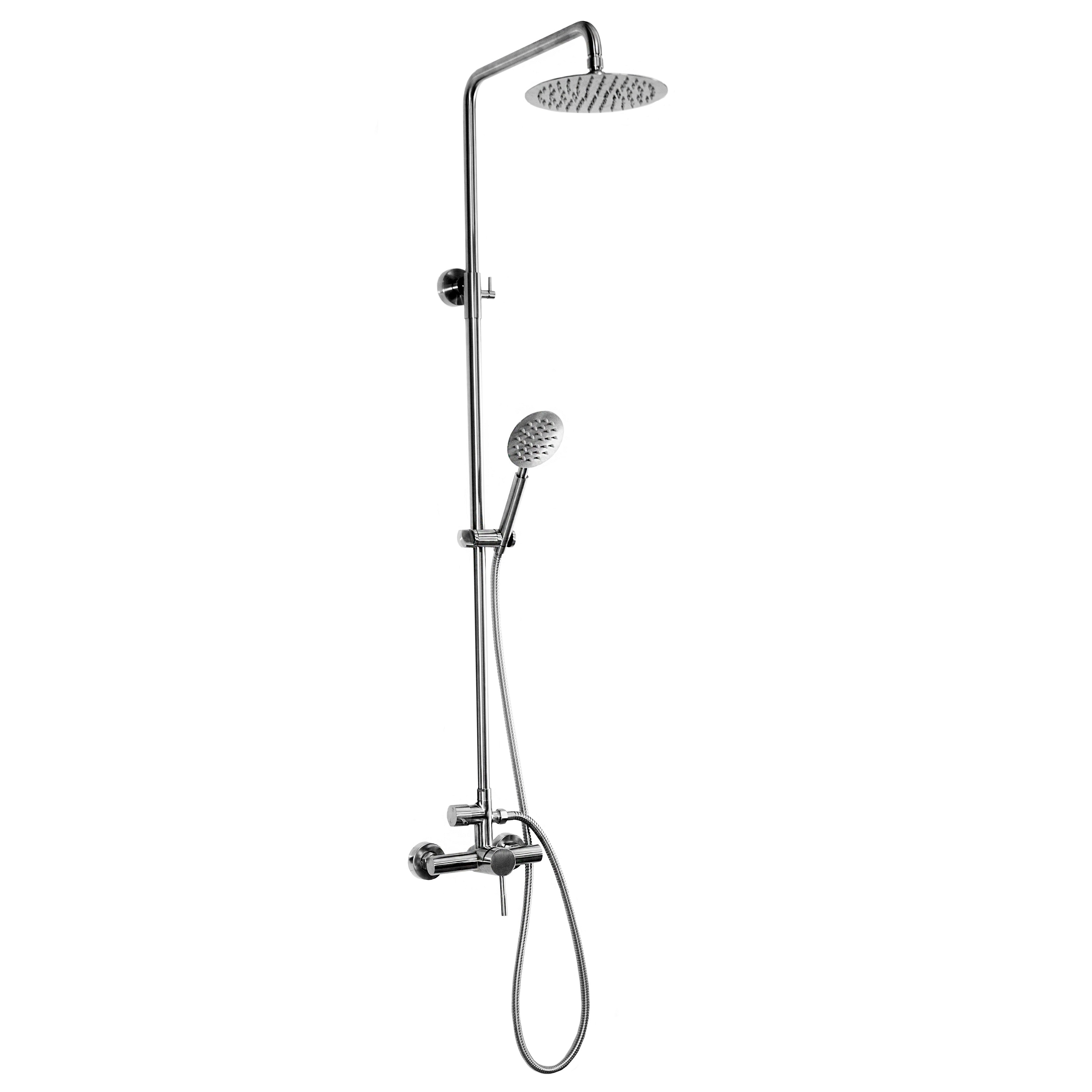 Outdoor Shower Company DVA-L2-WMHC Wall Mount Hot & Cold Shower