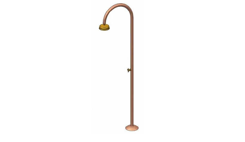 Outdoor Shower Company FTA-C50R-C Single Supply Copper Shower Unit