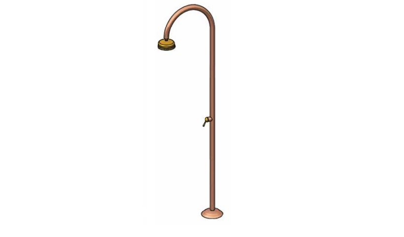 Outdoor Shower Company FTA-C50R-HC Hot & Cold Copper Shower Unit