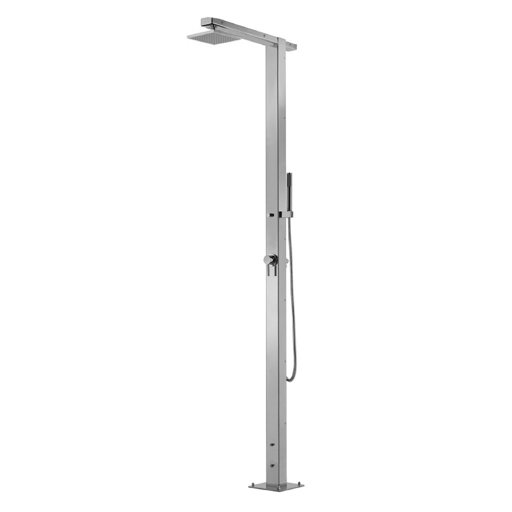 Outdoor Shower Company FTA-Q86-CHS Single Supply Shower Unit