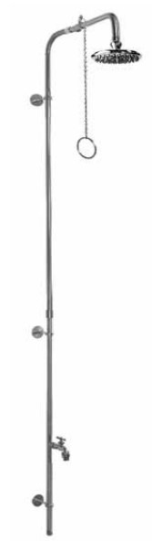 Outdoor Shower Company PM-500-PCV Wall Mount Single Supply Shower