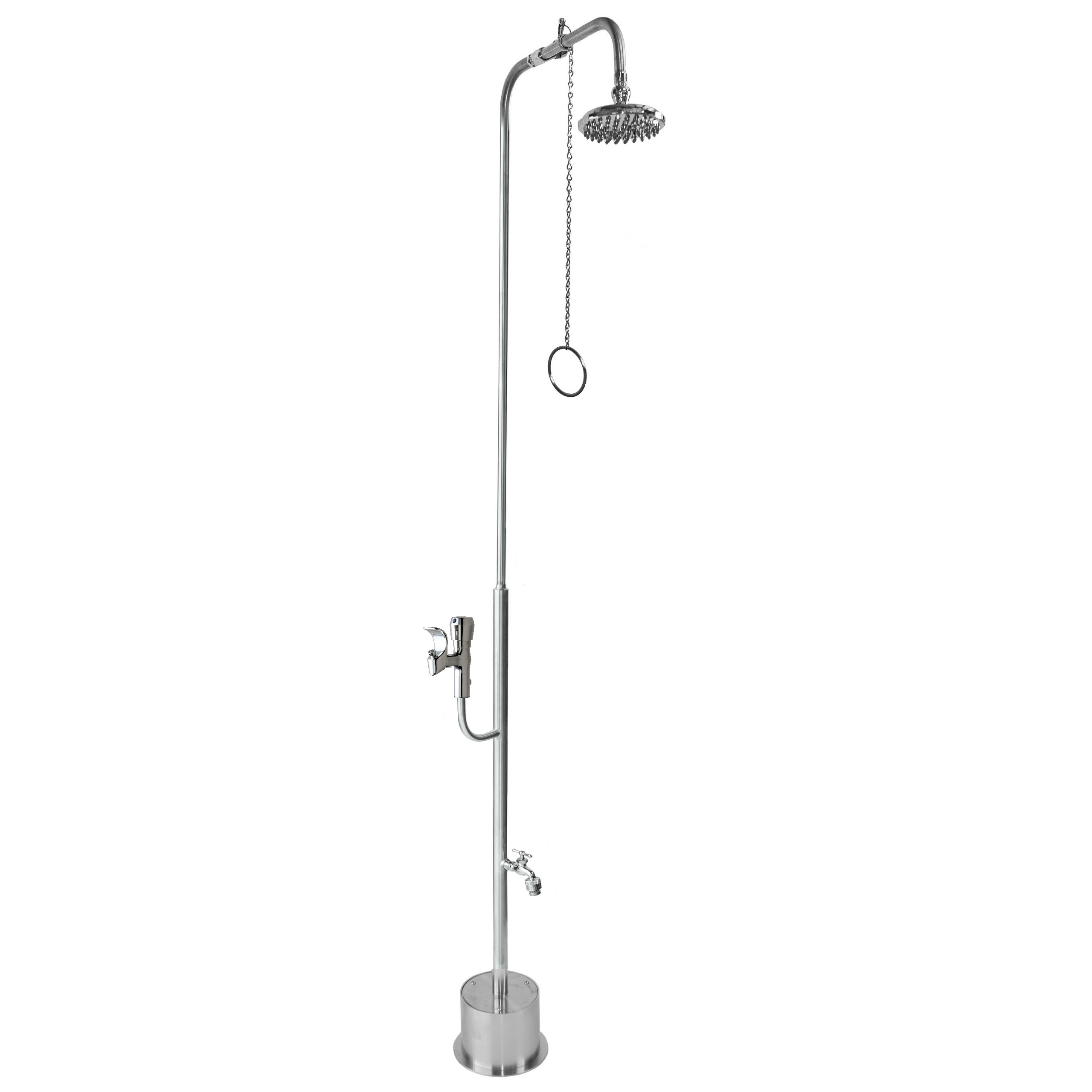 Outdoor Shower Company PSDF-1500-PCV-ADA Free Standing Single Supply Shower