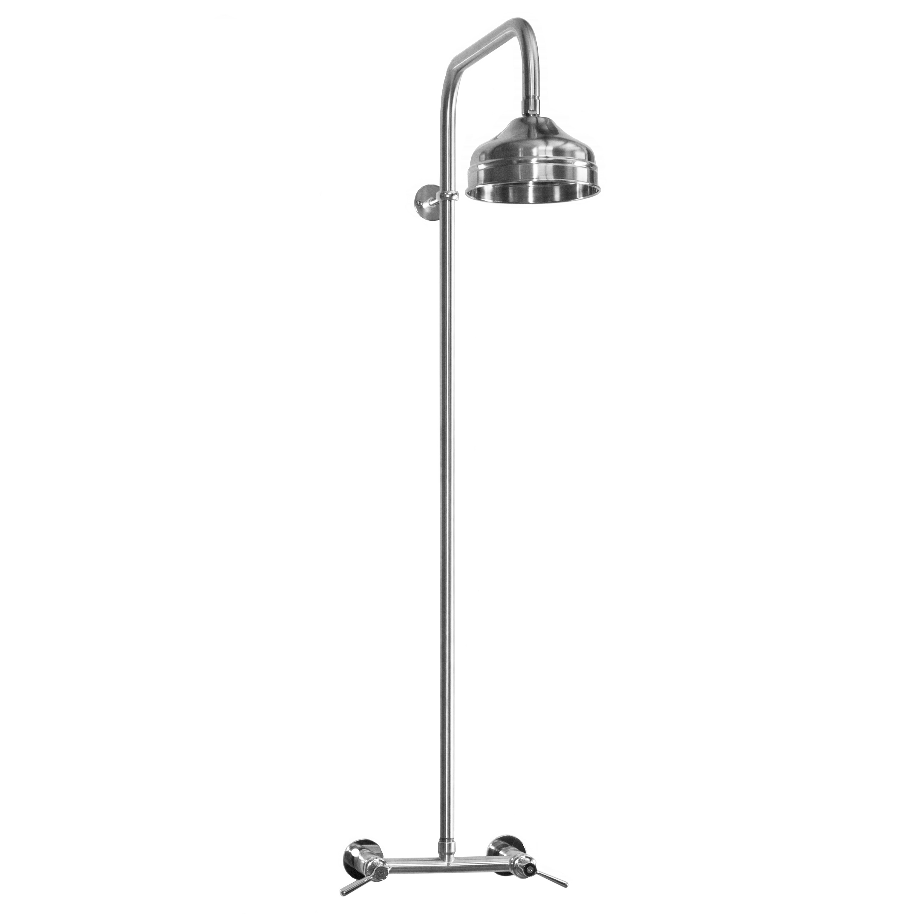 Outdoor Shower Company WMHC-445-SS Wall Mount Hot & Cold Shower