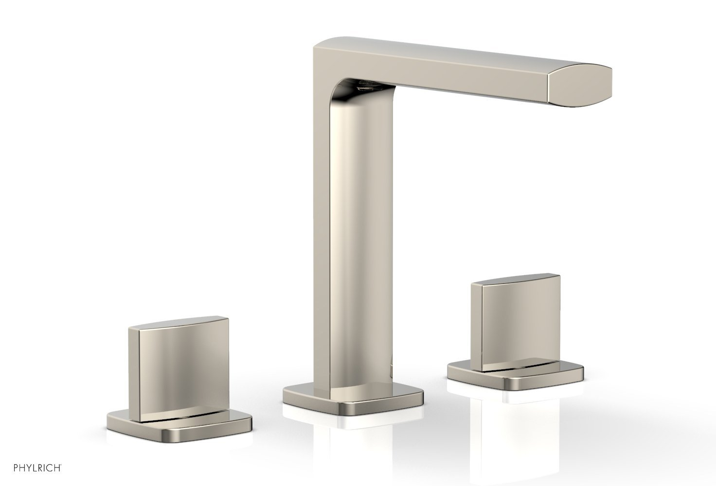 Phylrich 181-01-014 RADI Widespread Faucet - Blade Handle High Spout - Polished Nickel