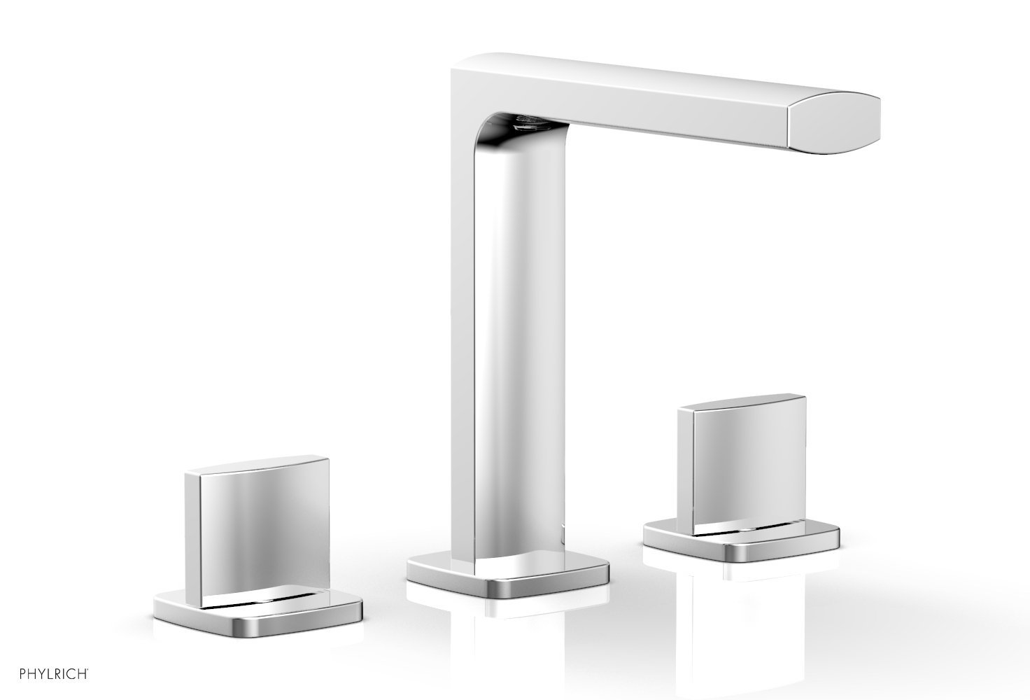 Phylrich 181-01-026 RADI Widespread Faucet - Blade Handle High Spout - Polished Chrome