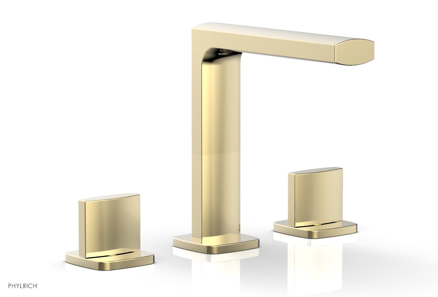 Phylrich 181-01-03U RADI Widespread Faucet - Blade Handle High Spout - Polished Brass Uncoated