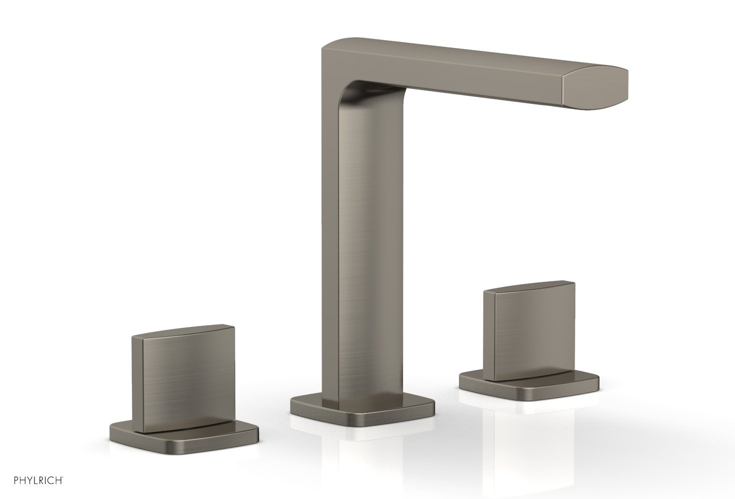 Phylrich 181-01-15A RADI Widespread Faucet - Blade Handle High Spout - Pewter