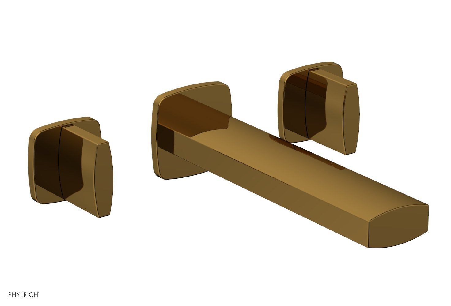 Phylrich 181-11-002 RADI Wall Lavatory Set - Blade Handles - French Brass