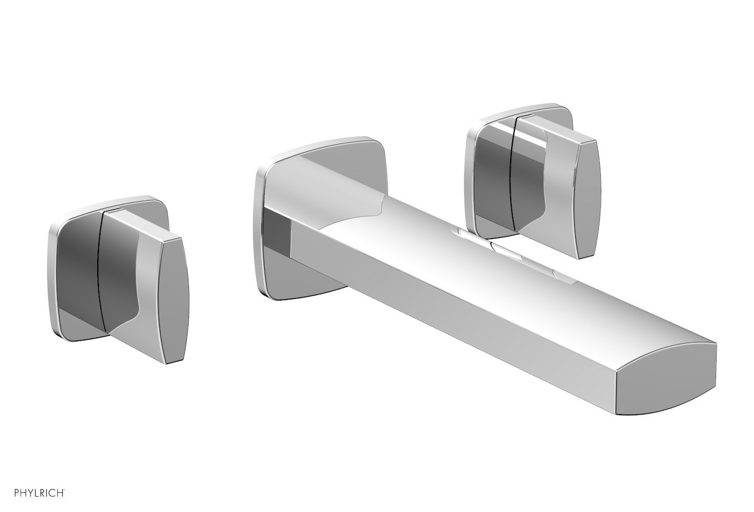 Phylrich 181-11-026 RADI Wall Lavatory Set - Blade Handles - Polished Chrome