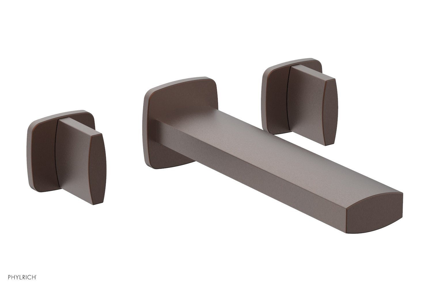 Phylrich 181-11-05W RADI Wall Lavatory Set - Blade Handles - Weathered Copper