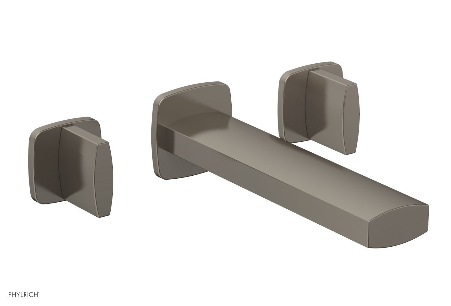 Phylrich 181-11-15A RADI Wall Lavatory Set - Blade Handles - Pewter