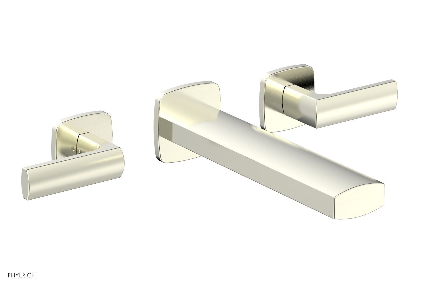 Phylrich 181-12-015 RADI Wall Lavatory Set - Lever Handles - Satin Nickel