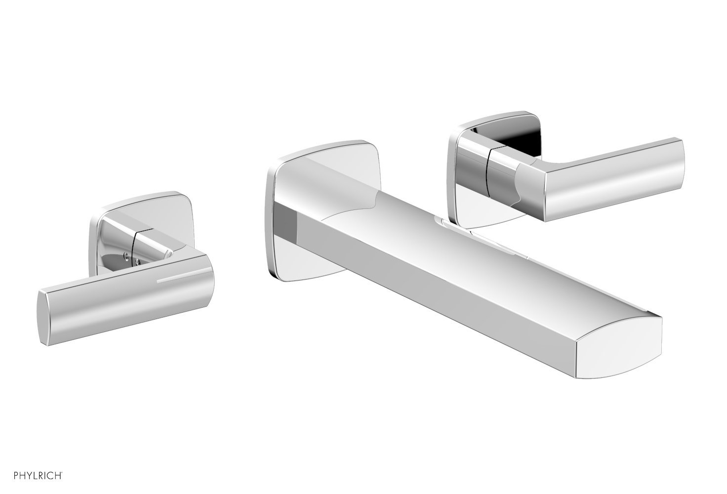 Phylrich 181-12-026 RADI Wall Lavatory Set - Lever Handles - Polished Chrome