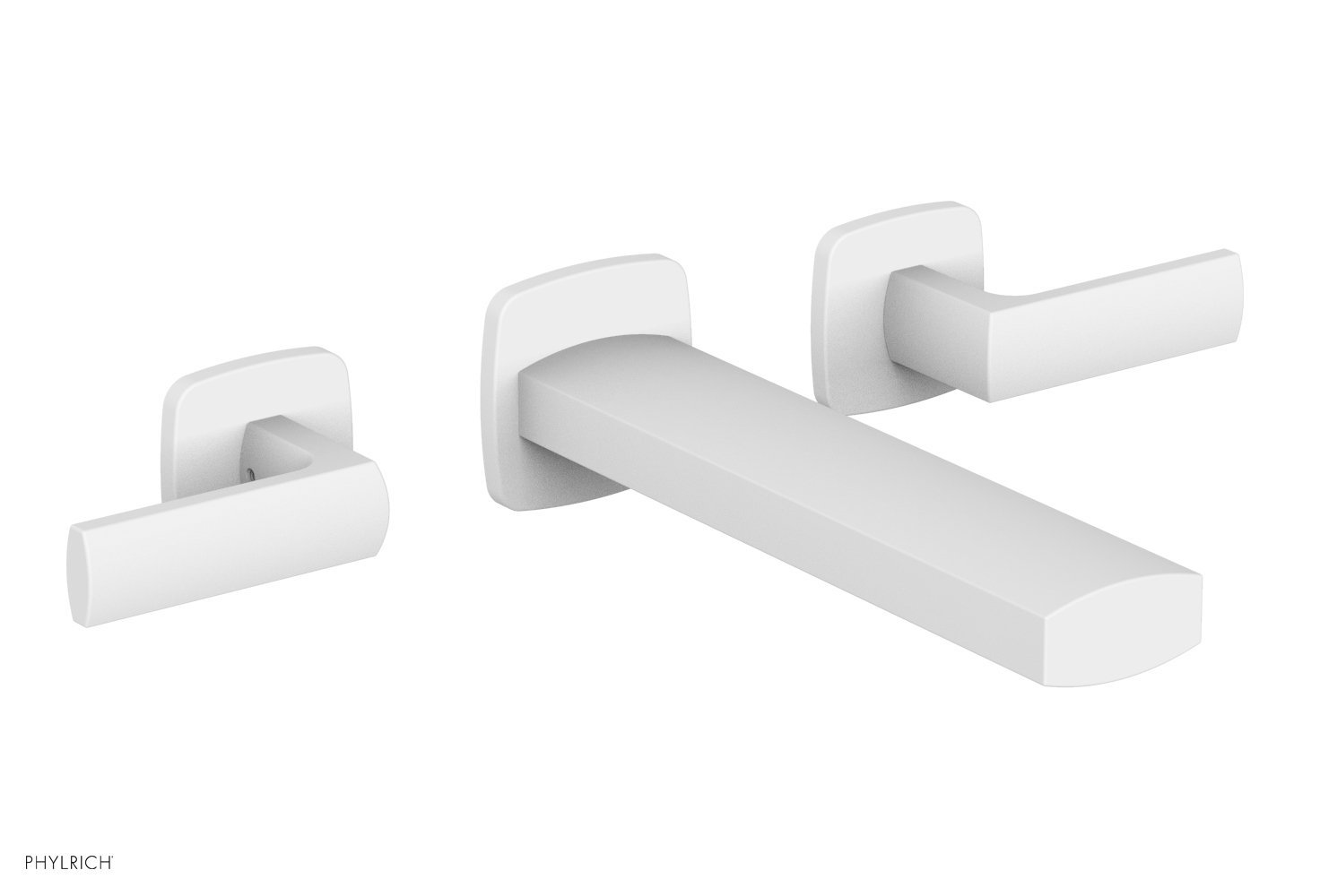 Phylrich 181-12-050 RADI Wall Lavatory Set - Lever Handles - Satin White