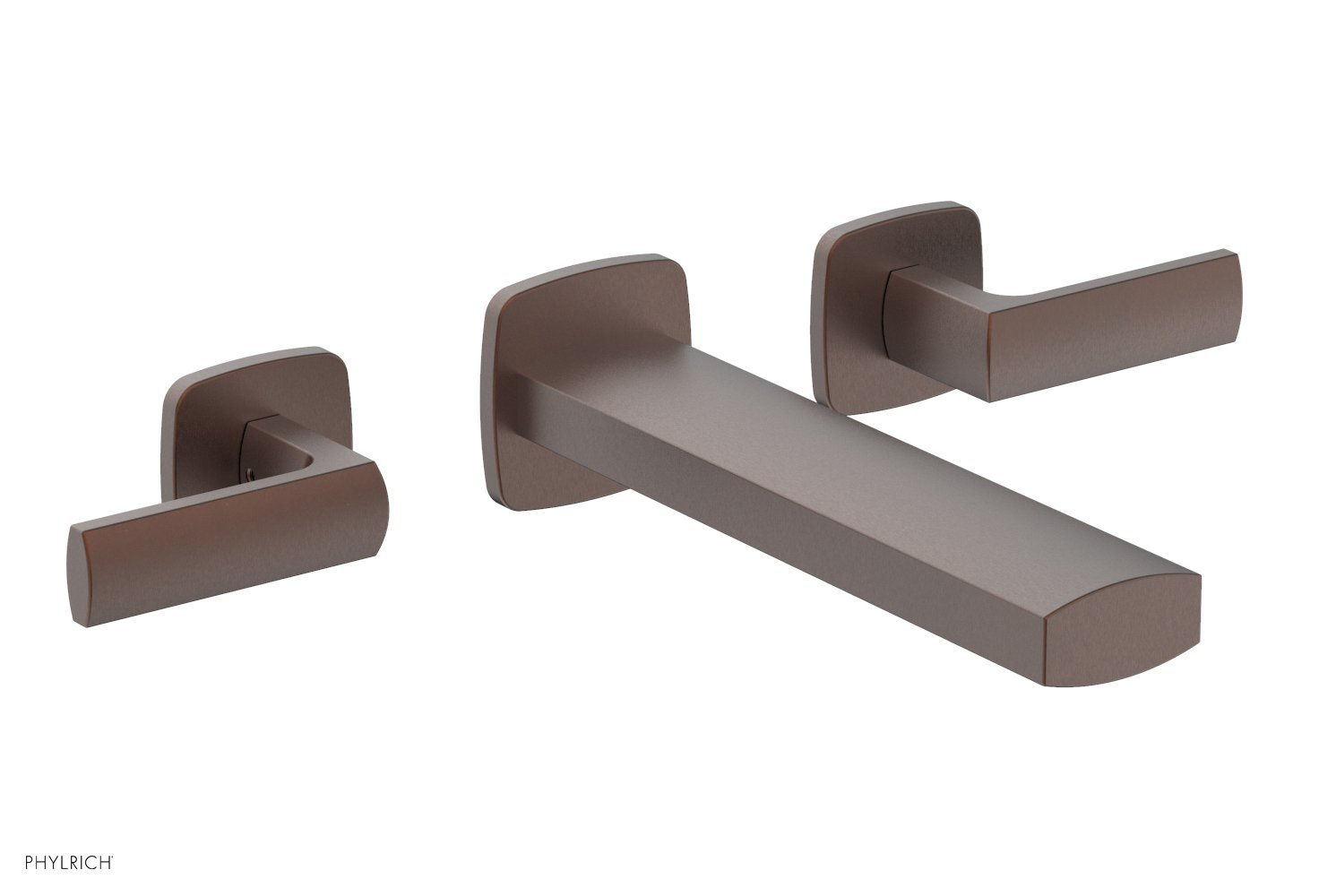 Phylrich 181-12-05W RADI Wall Lavatory Set - Lever Handles - Weathered Copper