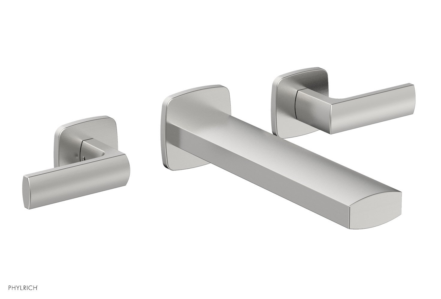 Phylrich 181-12-26D RADI Wall Lavatory Set - Lever Handles - Satin Chrome