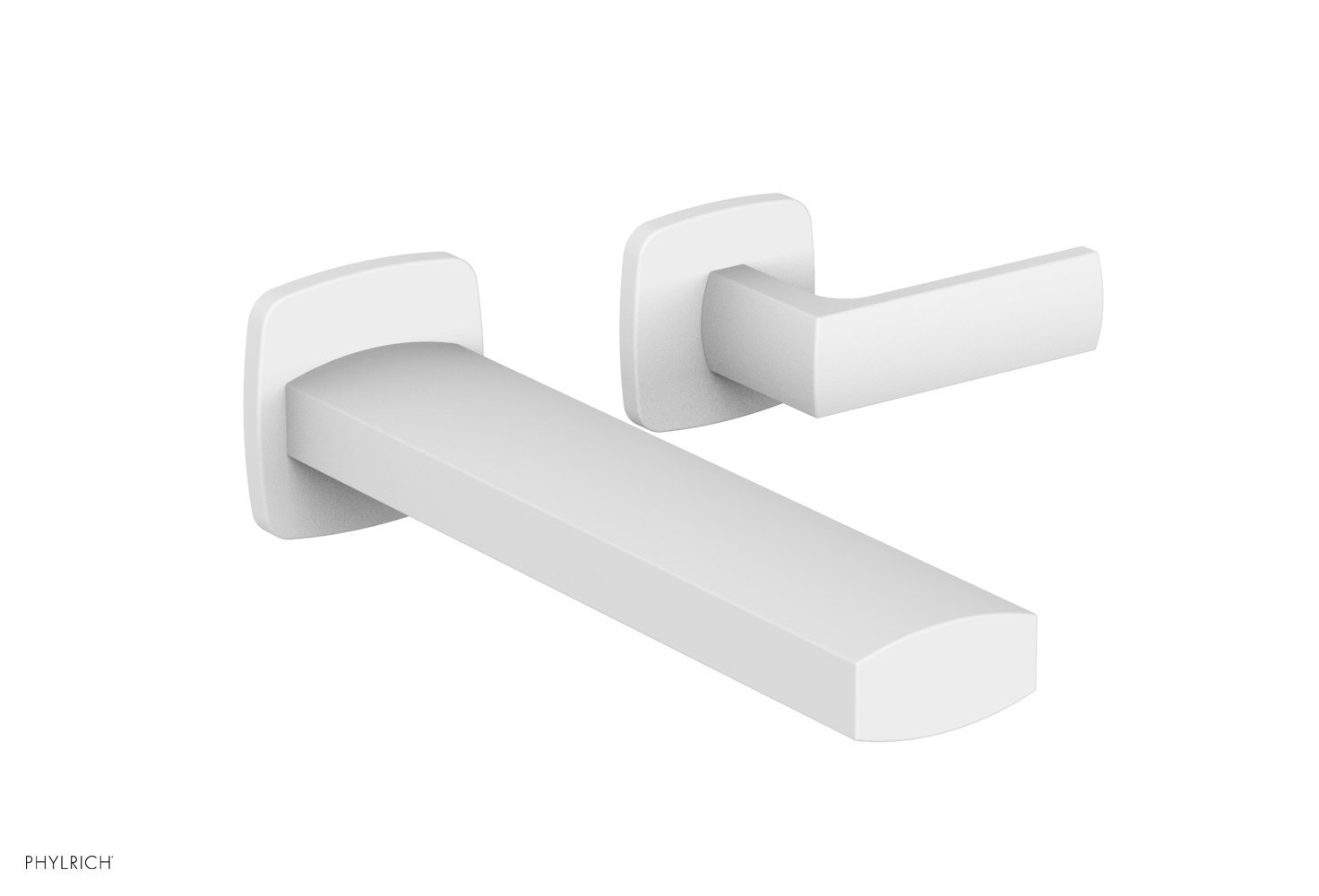 Phylrich 181-16-050 RADI Single Handle Wall Lavatory Set - Lever Handles - Satin White