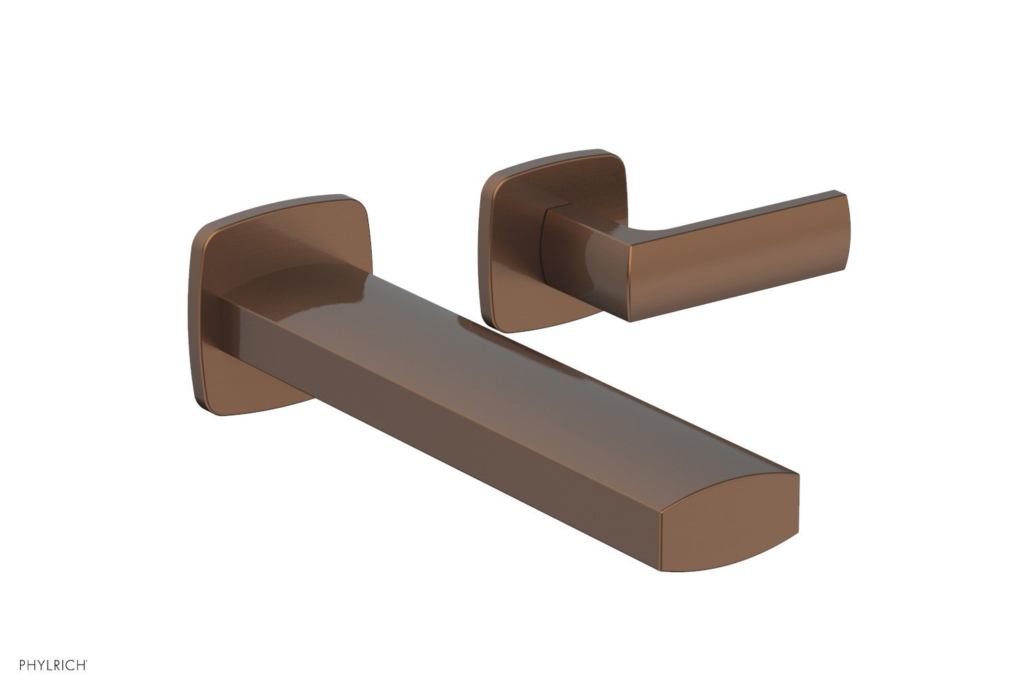 Phylrich 181-16-05A RADI Single Handle Wall Lavatory Set - Lever Handles - Antique Copper