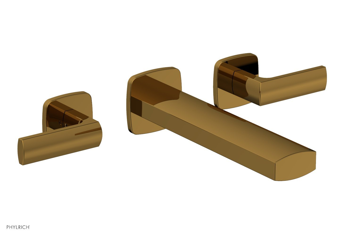 Phylrich 181-57-002 RADI Wall Tub Set - Lever Handles - French Brass