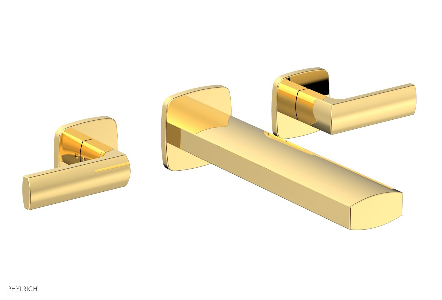 Phylrich 181-57-025 RADI Wall Tub Set - Lever Handles - Polished Gold
