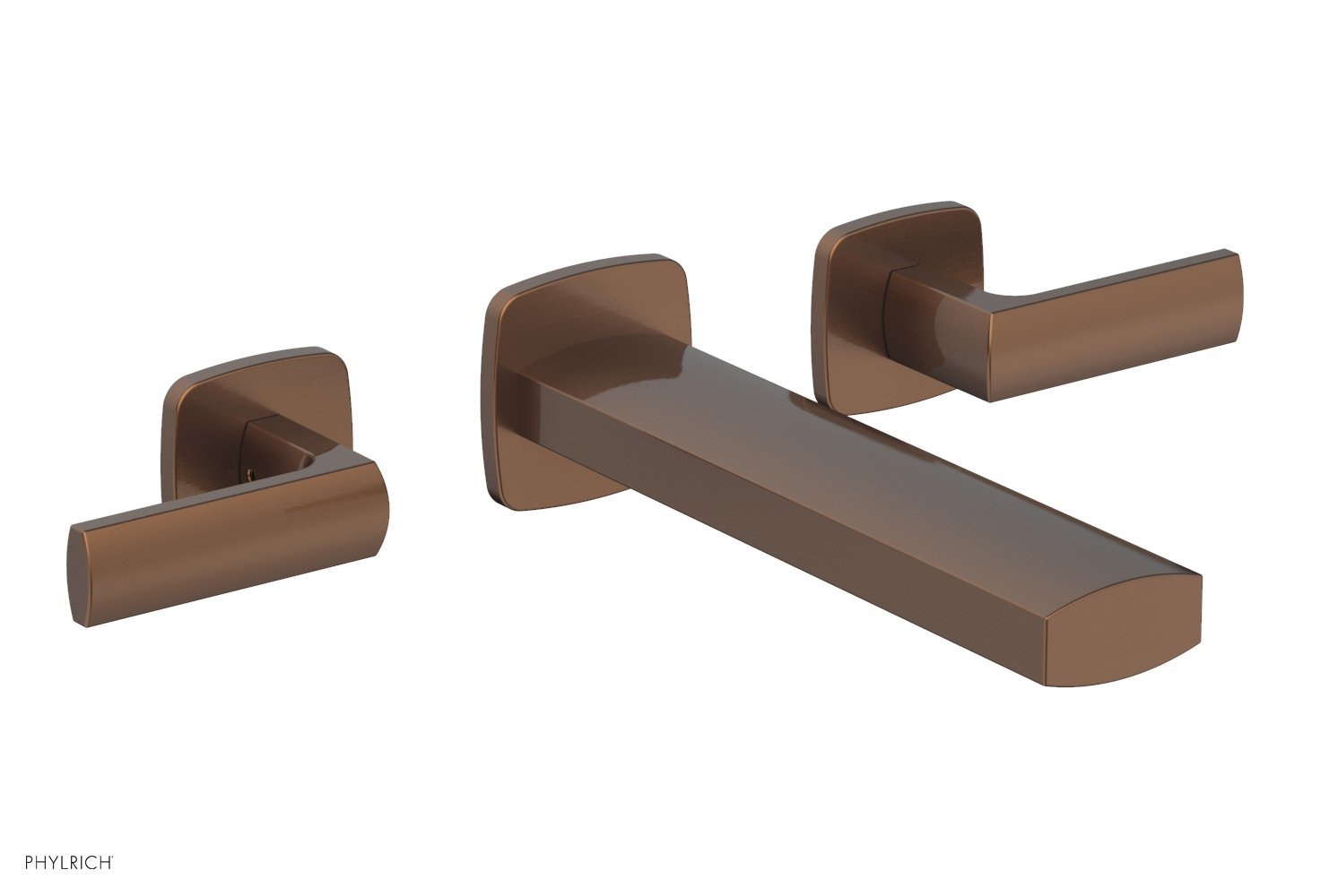 Phylrich 181-57-05A RADI Wall Tub Set - Lever Handles - Antique Copper