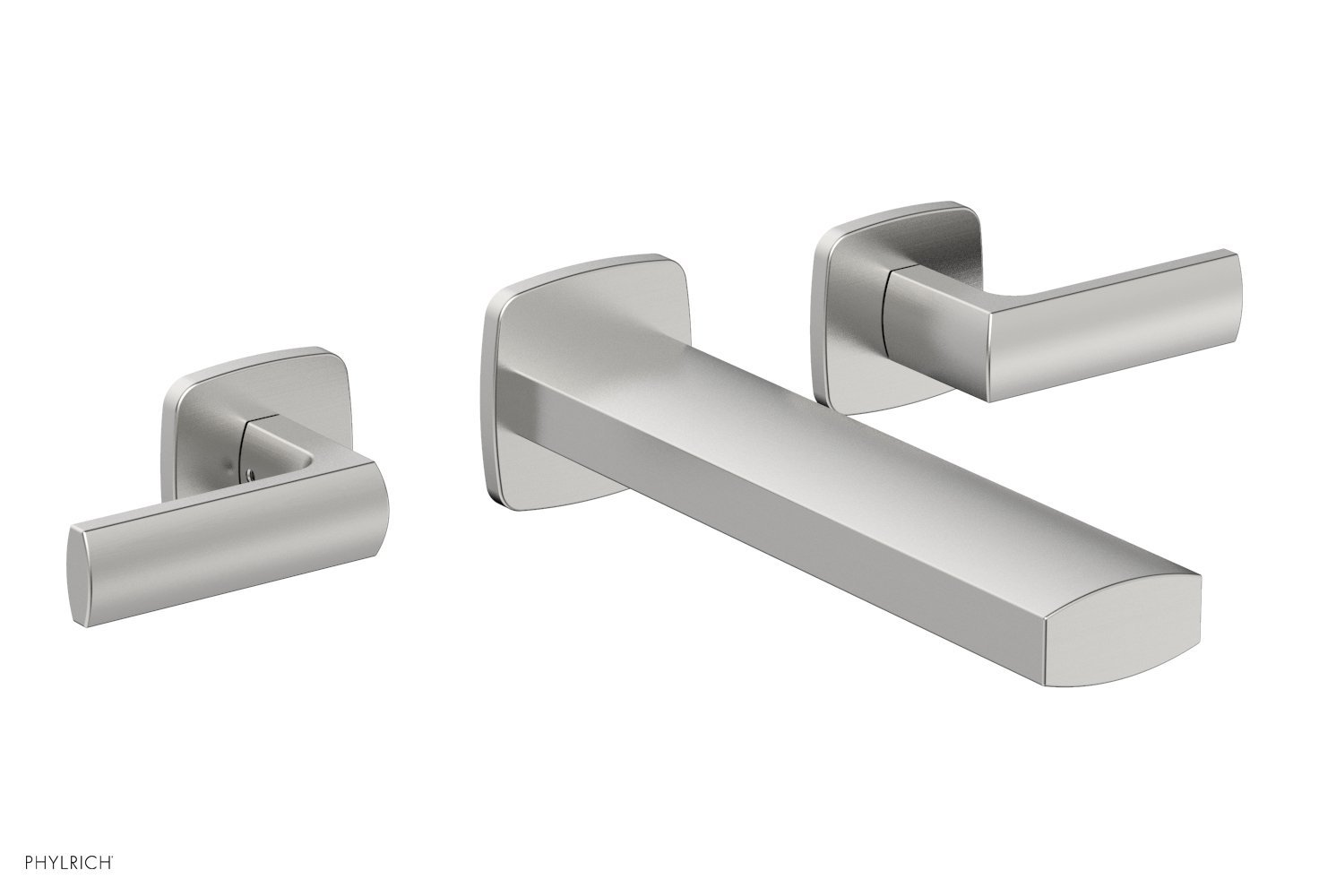 Phylrich 181-57-26D RADI Wall Tub Set - Lever Handles - Satin Chrome