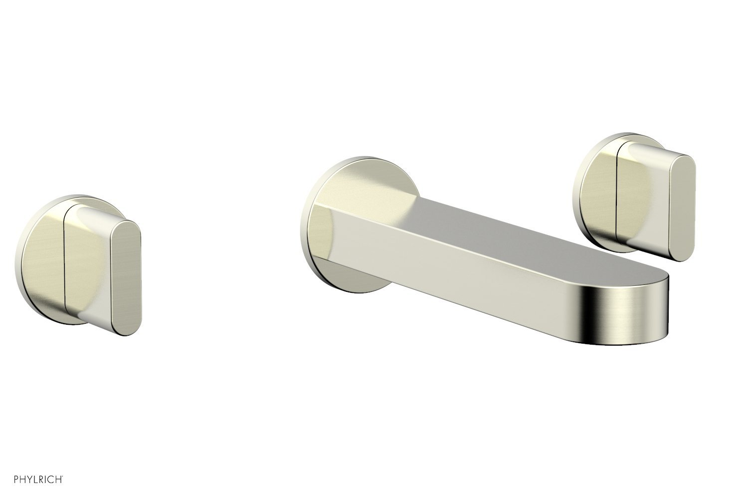 Phylrich 183-11-015 ROND Wall Lavatory Set - Blade Handles - Satin Nickel