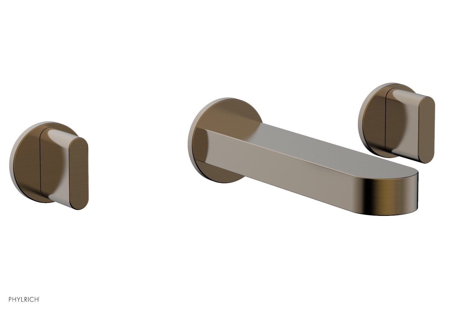 Phylrich 183-11-047 ROND Wall Lavatory Set - Blade Handles - Antique Brass