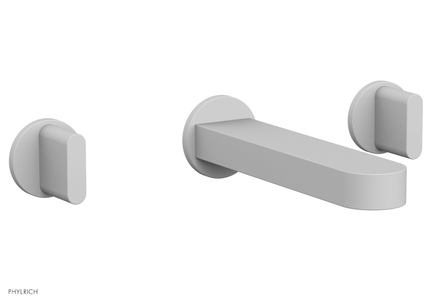 Phylrich 183-11-050 ROND Wall Lavatory Set - Blade Handles - Satin White