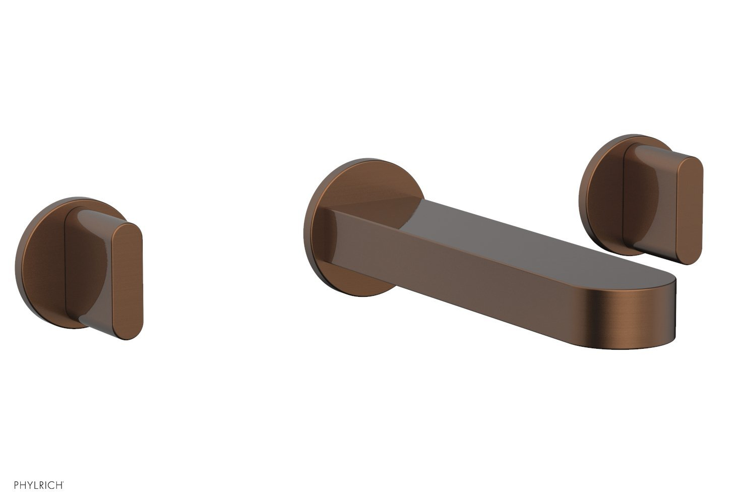 Phylrich 183-11-05A ROND Wall Lavatory Set - Blade Handles - Antique Copper