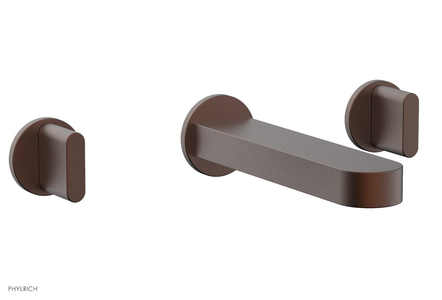 Phylrich 183-11-05W ROND Wall Lavatory Set - Blade Handles - Weathered Copper