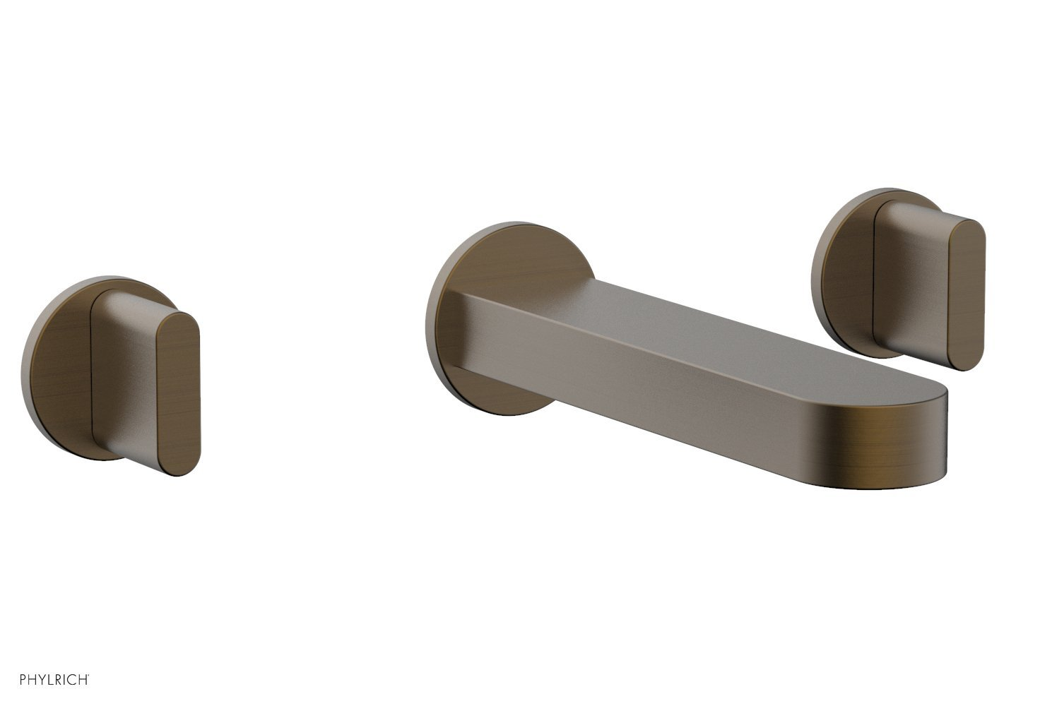 Phylrich 183-11-OEB ROND Wall Lavatory Set - Blade Handles - Old English Brass