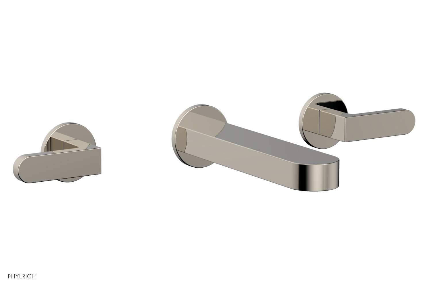 Phylrich 183-12-014 ROND Wall Lavatory Set - Lever Handles - Polished Nickel