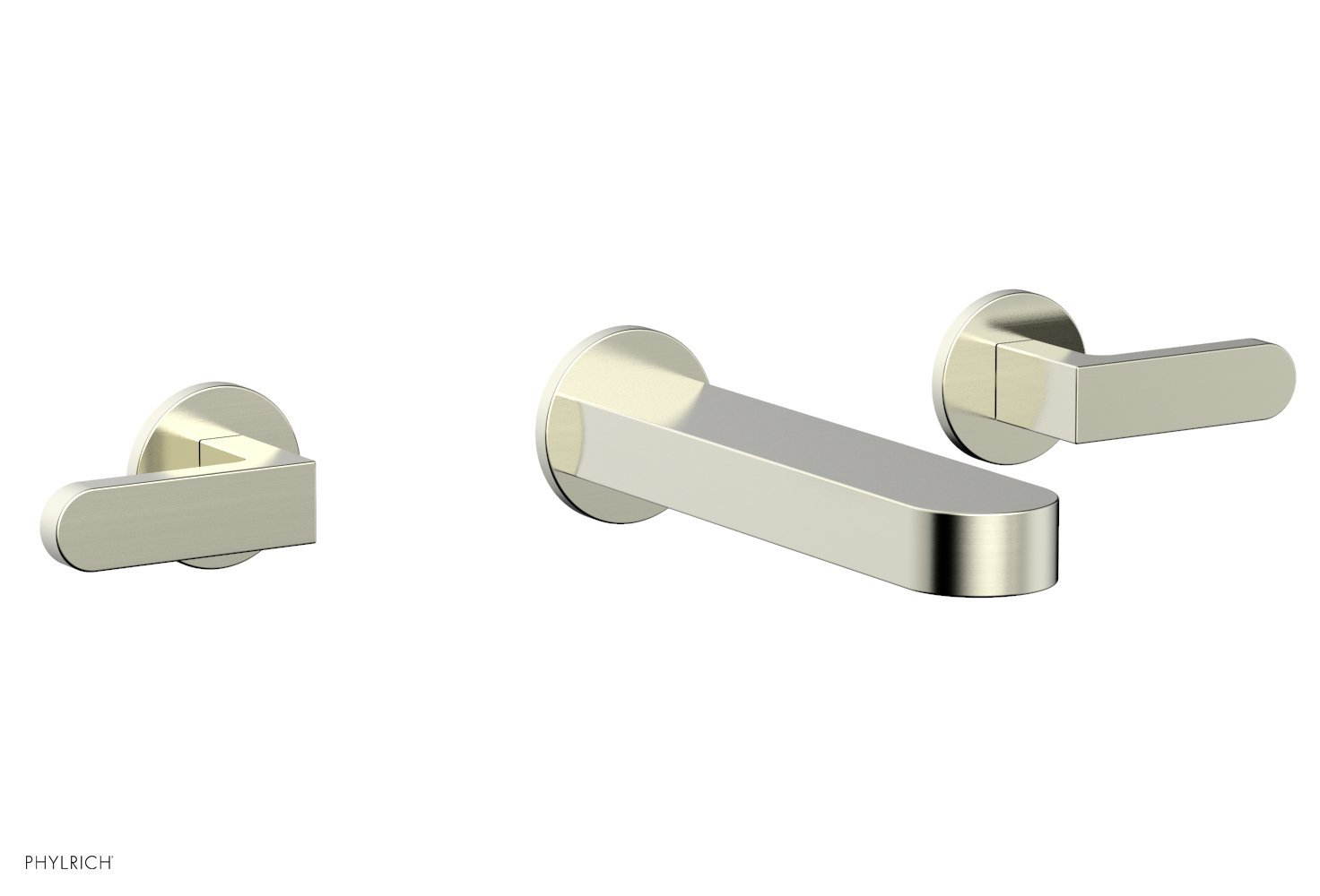 Phylrich 183-12-015 ROND Wall Lavatory Set - Lever Handles - Satin Nickel