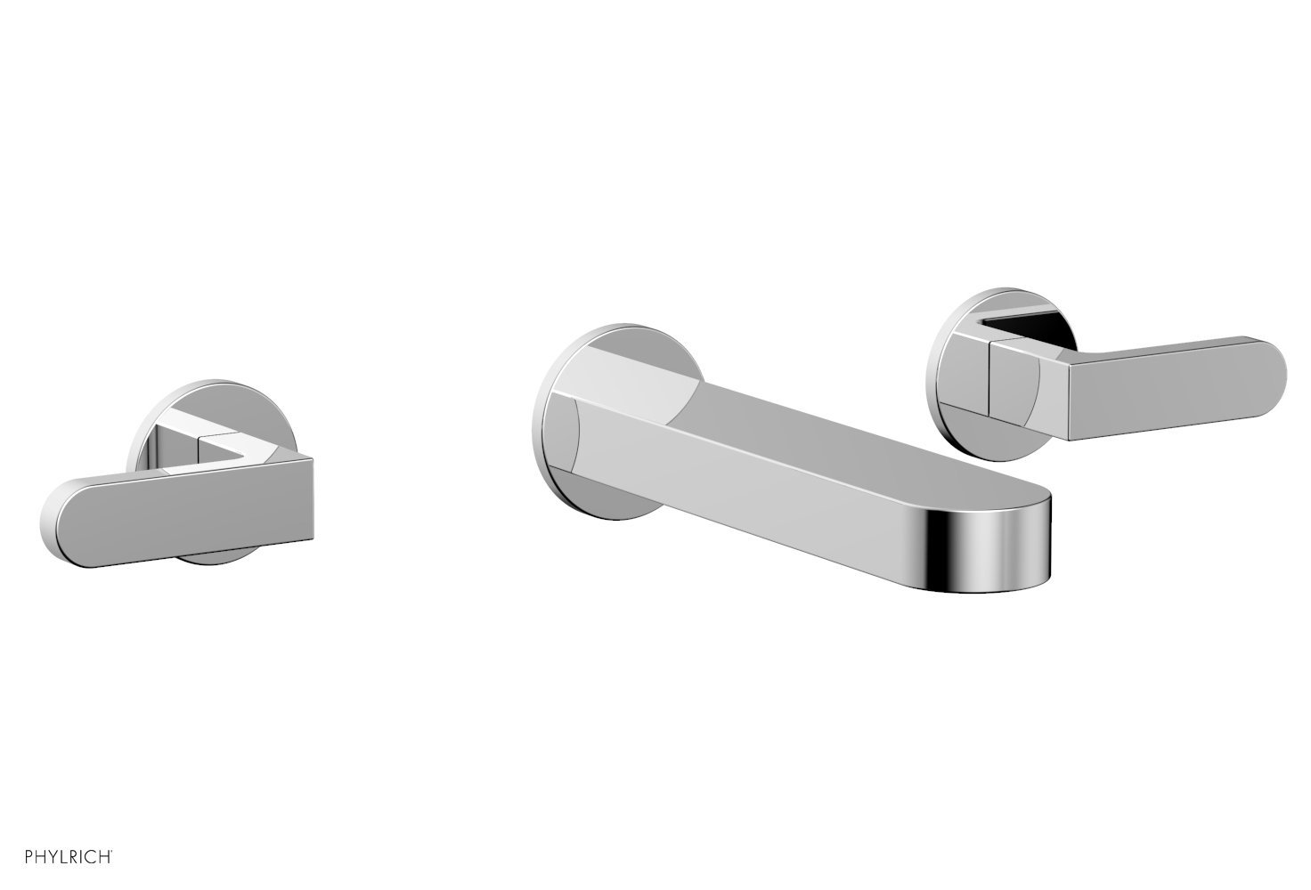 Phylrich 183-12-026 ROND Wall Lavatory Set - Lever Handles - Polished Chrome
