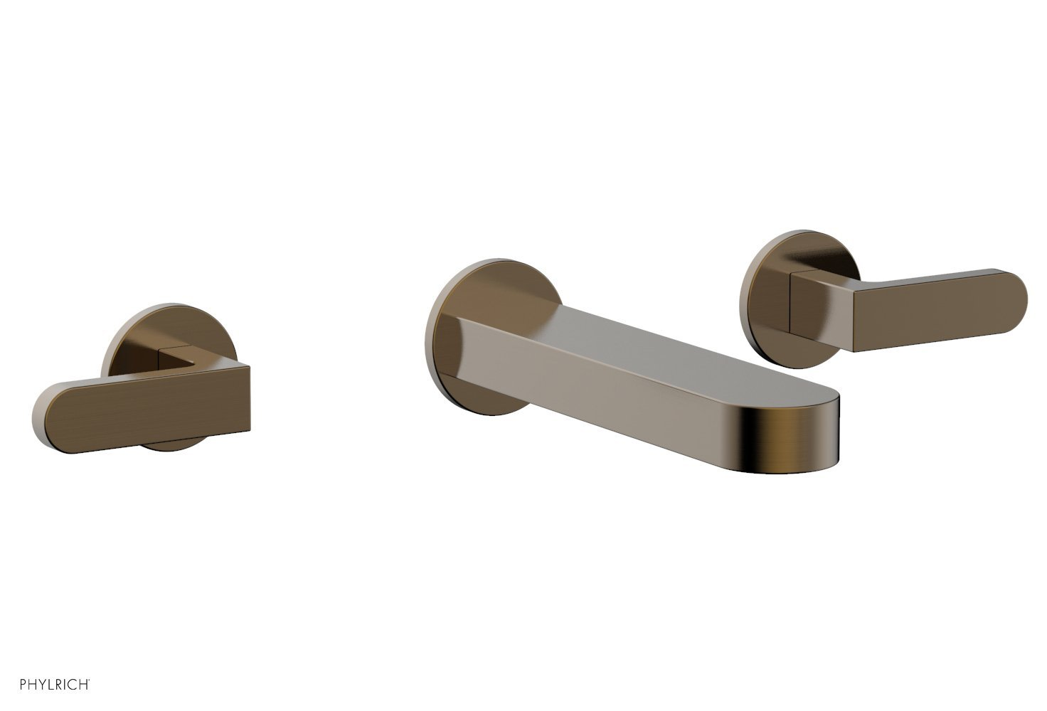 Phylrich 183-12-047 ROND Wall Lavatory Set - Lever Handles - Antique Brass