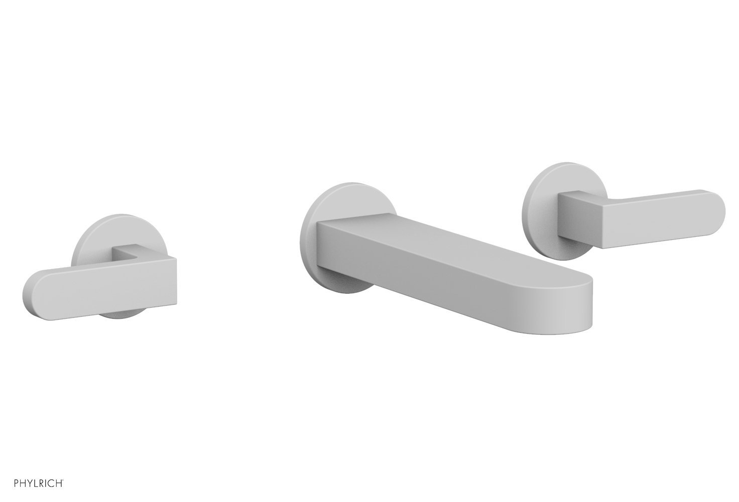 Phylrich 183-12-050 ROND Wall Lavatory Set - Lever Handles - Satin White