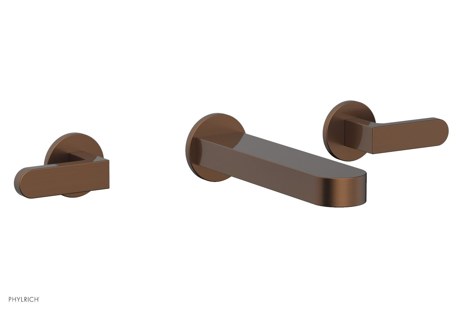 Phylrich 183-12-05A ROND Wall Lavatory Set - Lever Handles - Antique Copper