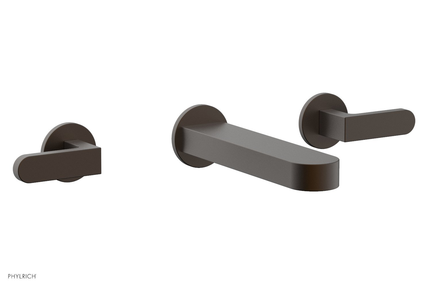 Phylrich 183-12-10B ROND Wall Lavatory Set - Lever Handles - Oil Rubbed Bronze